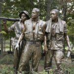 Vietnam veteran memorial statue